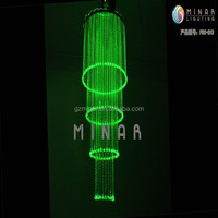 2015 cheap chinese modern optical fiber led crystal chandelier for hotel with wireless remote control