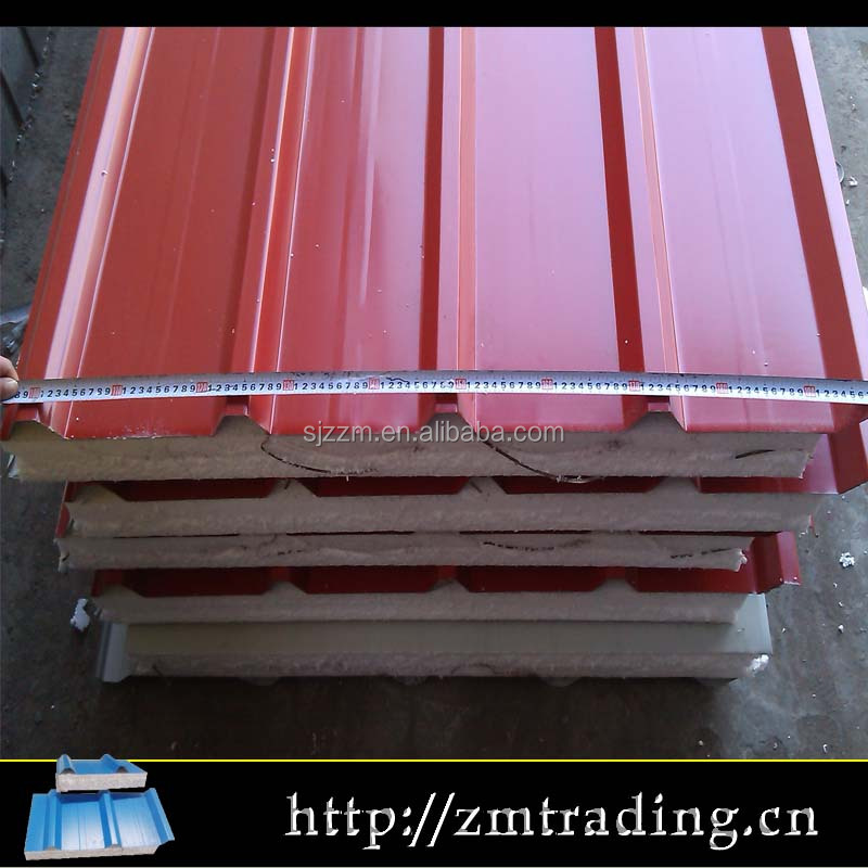 Rock wool/eps/pu sandwich panel export to Dubai,Africa,Europe and so on