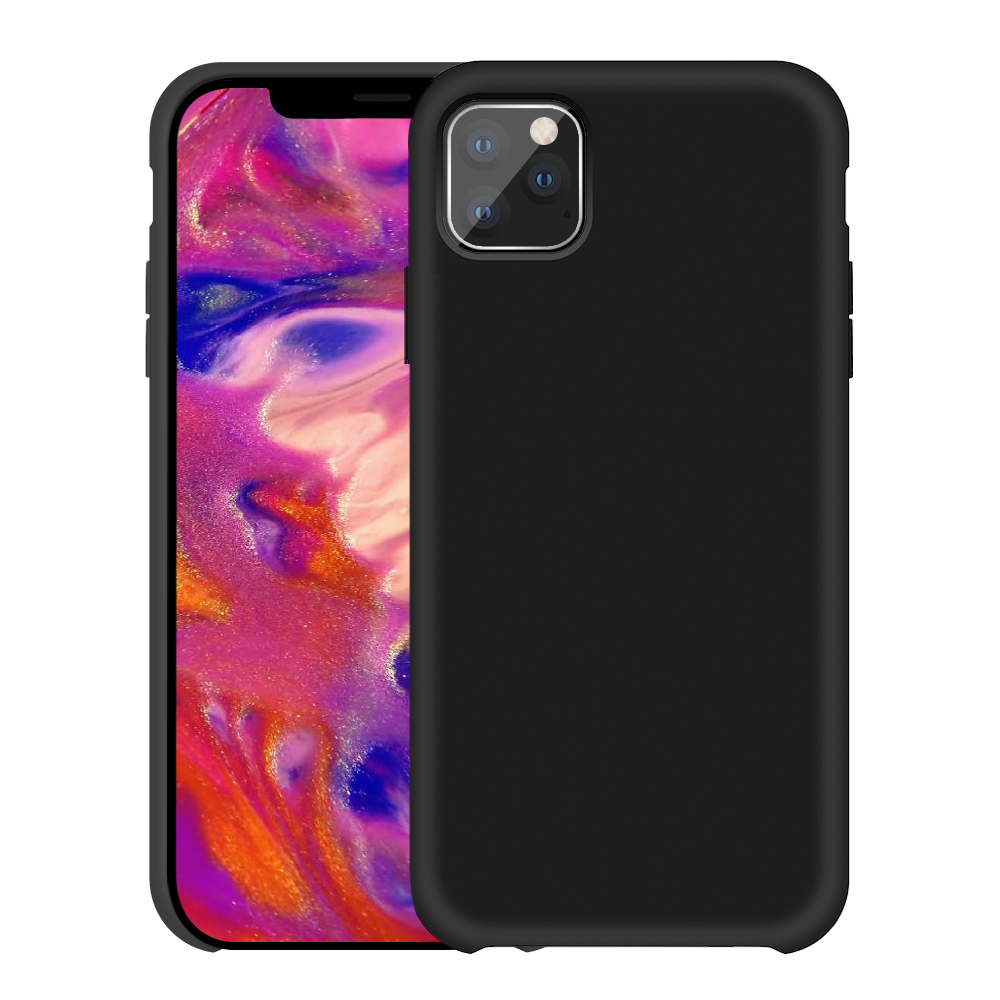 Liquid Silicone Gel Rubber Case Soft <strong>Microfiber</strong> Cloth Case for iphone 2019