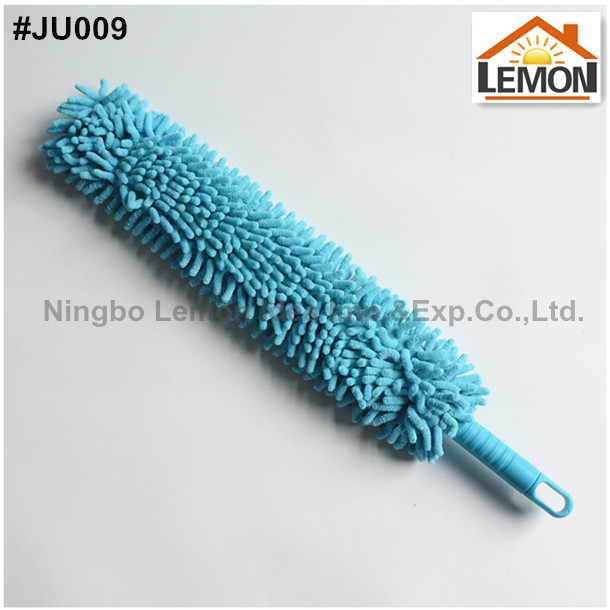 removable washable microfibre chenille noodle cleaning car duster with short handle
