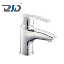 General Water single lever handle hole deck mounted bathroom faucet brass lever washing basin tapware