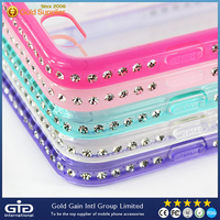 [NP-2324] Mirror Clear PC+TPU Case with Glitter Diamond for iPhone 6 4.7 inch