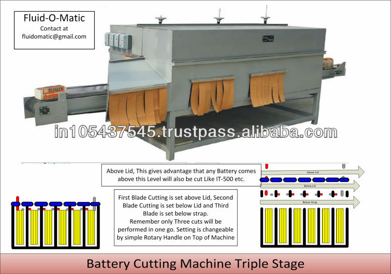 Old Battery Cutting Machine (Triple Stage)