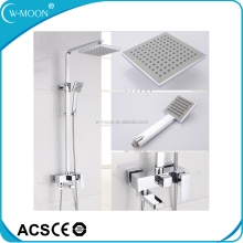 Bathroom Luxury Modern Wall Mounted Brass Rain Shower Mixer Set