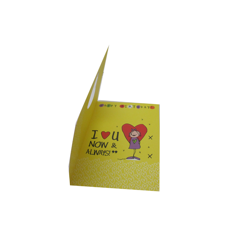 custom-made your own logo in the birthday greeting cards printing with wholesale