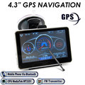 4.3 Inch GPS Navigation 800RGB(H)x480(V) Good Quality With World Map CE Report GPS Navigator For Car