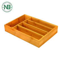 5 Compartment kitchen drawer divider drawer storage cheap cutlery tray