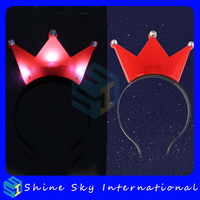 Led pumpkin hair band, led halloween head band, factory directly antler crown party led flashing headband head hoop