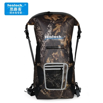 High quality Sealock 600D TPU camouflage waterproof outdoor sport Swimming water dry bag with Silk printing Backpack