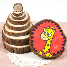Mini wooden carving craft wood slices wood christmas ornaments patterns for painting photos