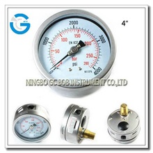 stainless steel air pressure gauge