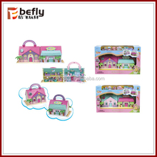 Mini kids toy plastic doll house