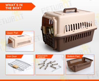 heavy duty dog crate plastic pet kennel