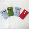 colorful plain wool felt mobile phone case