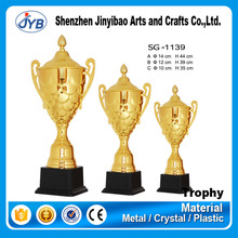 custom luxury awarding use big bowling top trophy with electroplating surface