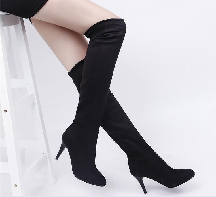 Women Winter Snow Boots High Heels Sexy Over the Knee Boots Women 2015