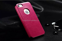 Hot selling leather back cover case for iphone5 mobile phone case