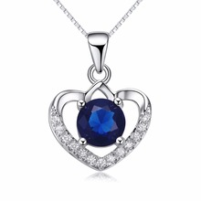 Sterling Silver Pendant Charm Pendent 925 Love Chain Crystal Shape Fashion Design Hollow Pave Heart Shaped Jewelry Necklace