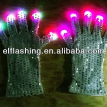 led flashing gloves with led lights 2018 new design for gift