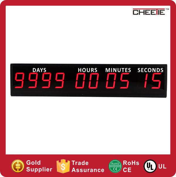 6 Digits LED Digital Timer Day Hour Minute Countdown 10000 Days hours minutes seconds countdown timer