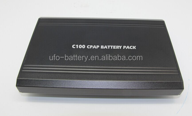 Rechargeable lithium ion polymer battery pack 12v 100Wh for CPAP machine
