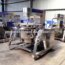 Tilting Steam-Heating Jacketed Mixing Kettle / Jacketed Boiler with Scraper Stirrer and Agitator Mixer / Cooking Pots