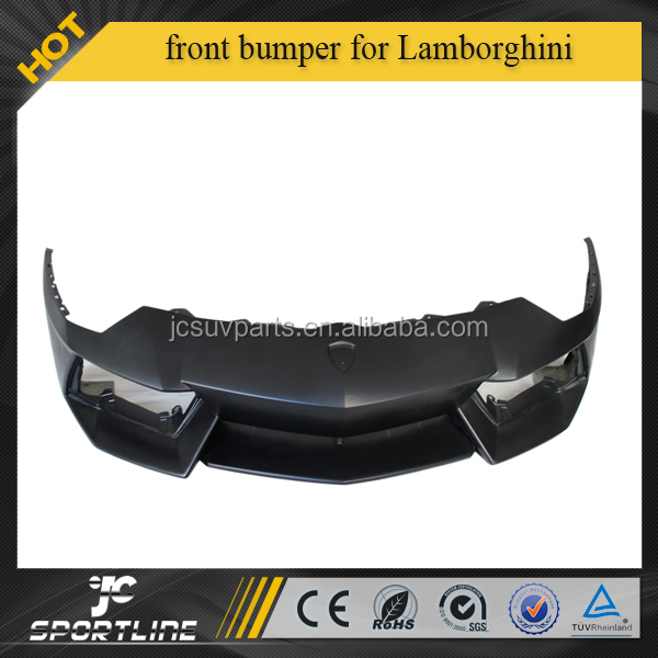 OEM style fiber glass matt black front bumper for Lamborghini Aventador LP700
