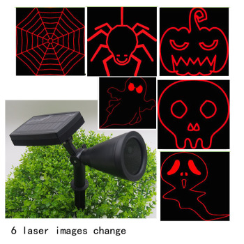 Holiday decoration outdoor decorative solar laser projector light