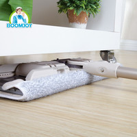 Easy use Microfiber heavy duty flat mop with Concealed double scraper