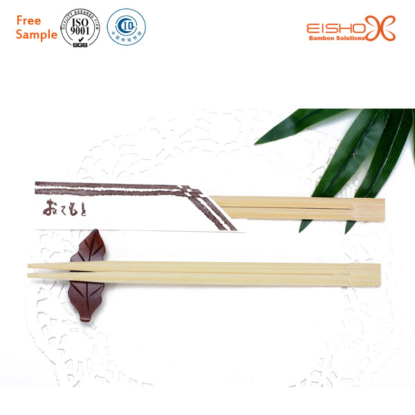 Sample Free Disposable Customized Print Bamboo Chopsticks with Semi Sleeves