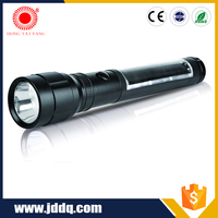 Rechargeable JD-206 solar light usb rechargeable solar led torch flashlight