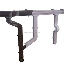 High Quality of Rain Carrying System pvc fitting 22.5 degree elbow hot sale roof gutter in Nigeria