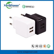 5V 2.1A USB charger battery Car Charger 2 port wall charger small size US/EU plug for family use