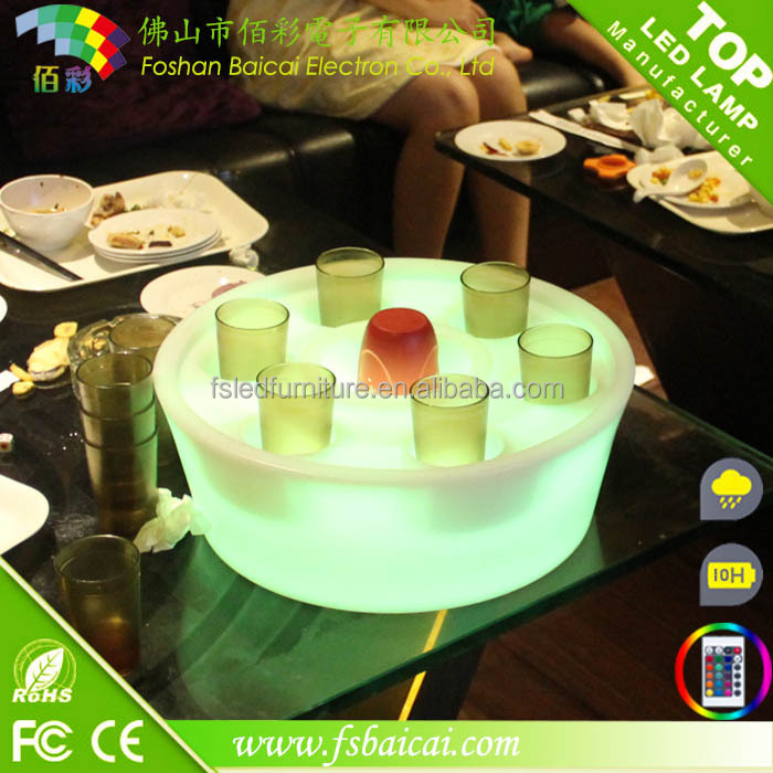 Colour Changing LED Ice Bucket hot sale PP illuminated led ice bucket