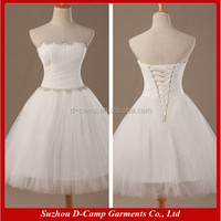ES004 White tulle ball gown real pictures of cocktail dress for prom night