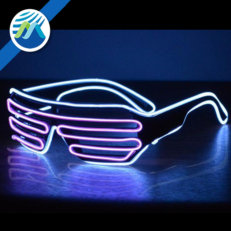 Wholesale Neon Glasses LED Sunglasses Flashing EL Wire Led Crazy Big Party Glasses