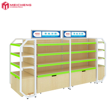 wholesale durable 4 layers wood pharmacy <strong>shelves</strong> with bottom cabinets beatiful storage <strong>shelf</strong> for drugstore or retail store