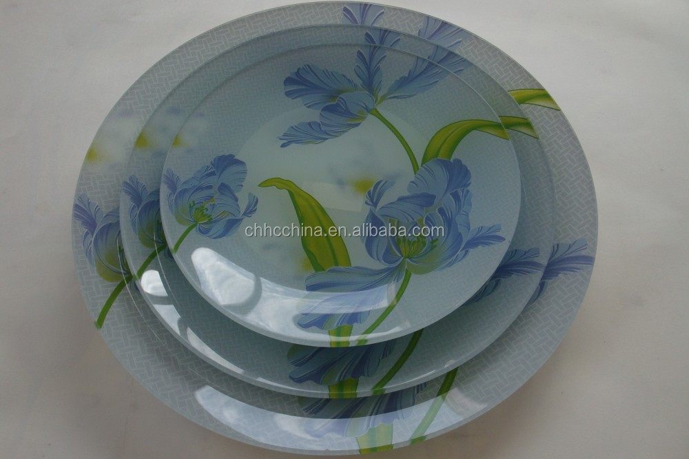 Fruit plates tempered oval glass plates / tempered glassware / tempered glass dinnerware