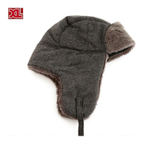 100% quality beanie unisex warm hat winter with earflap