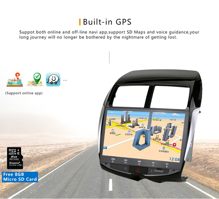 10.1 Inch Car 15A gps multimedia navigator dvd price for Mitsubishi ASX