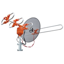 Factory Supply Hot Sale Outdoor Remote Controlled Rotating Long Range Analog Receiver Uhf/Vhf Tv Antenna Gr-909