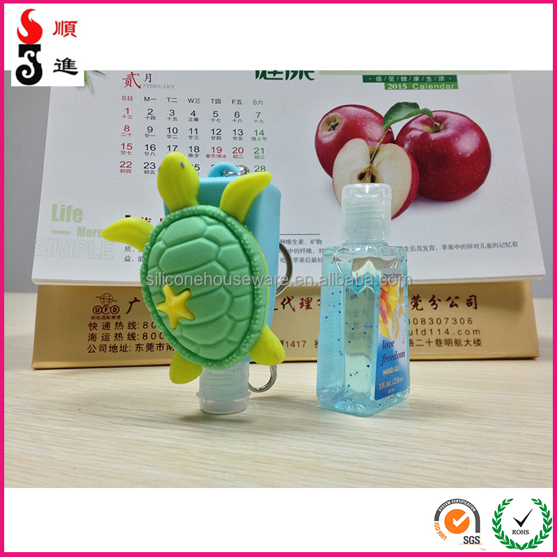 Alcohol Free Antibacterial Disinfectant 29ml Hand Sanitizer Gel Silicone Holders