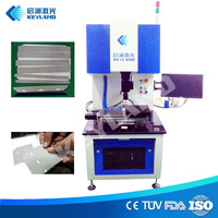 Keyland photovoltaic 10W 20W fiber laser dicing cutting solar cell silicon wafer machine