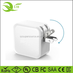 USB wall charger LED 24W 4.8A US folding travel universal adapter for iphone, ipad, LG, HTC, Nokia, Blackberry