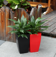 colour flower vases square plastic flower pot set