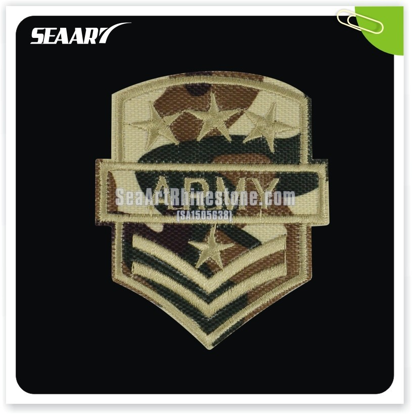 Wholesale Army Badge Hot Fix Embroidery Patch