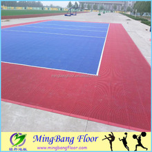 Alibaba China supplier outdoor multi-purpose PP sports volleyball court flooring/plastic outdoor deck flooring