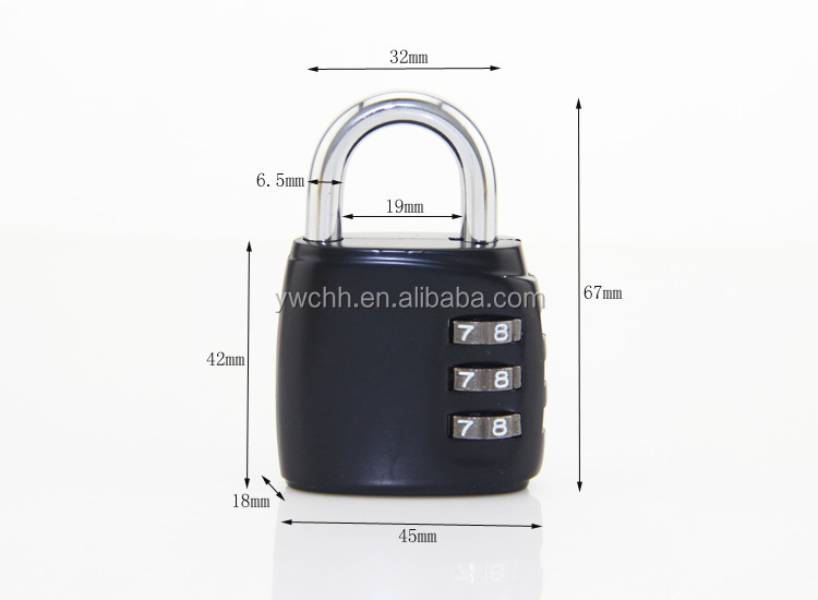Combination lock for safe security combination padlock