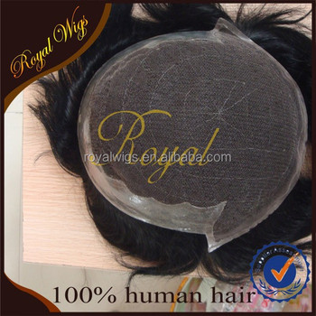 natural looking human hair topper touppe hair piece closure