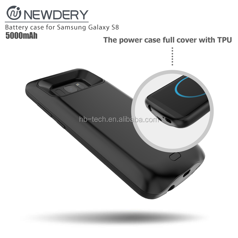 2017 Shenzhen New products External portable powerful backup battery case power case for Galaxy S8